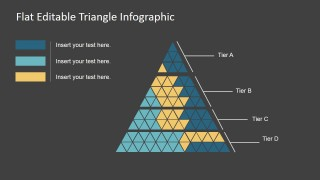 PPT Template Flat Design Triangles Infographics