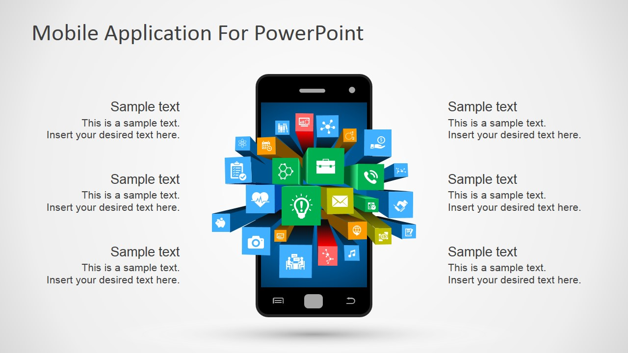 mobile apps metaphor clipart for powerpoint - slidemodel, Powerpoint templates