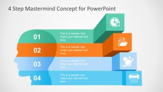 4 Step Mastermind Concept for PowerPoint
