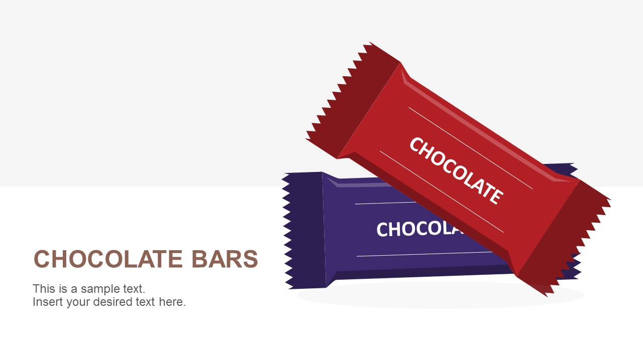Chocolate Bars PowerPoint Template Cover