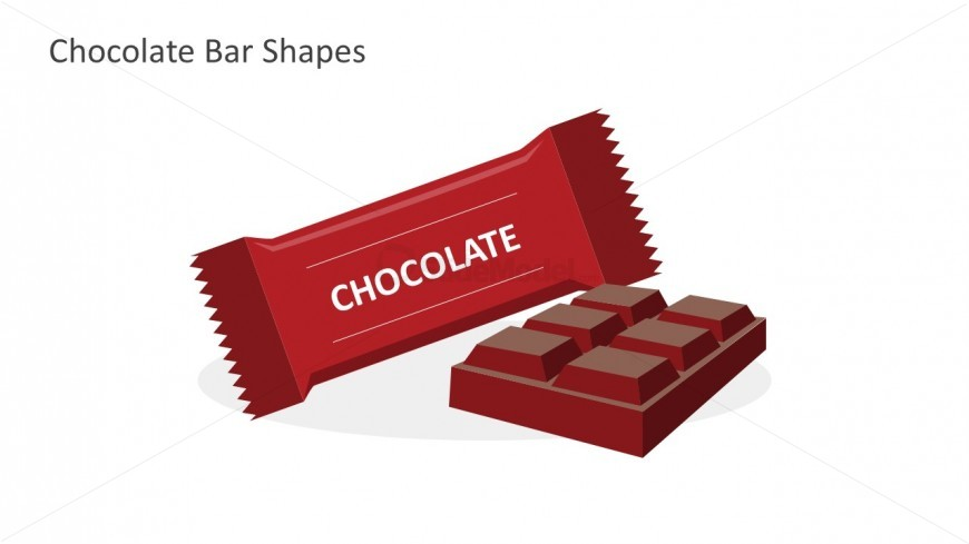 Chocolate Bar Shapes For PowerPoint Templates
