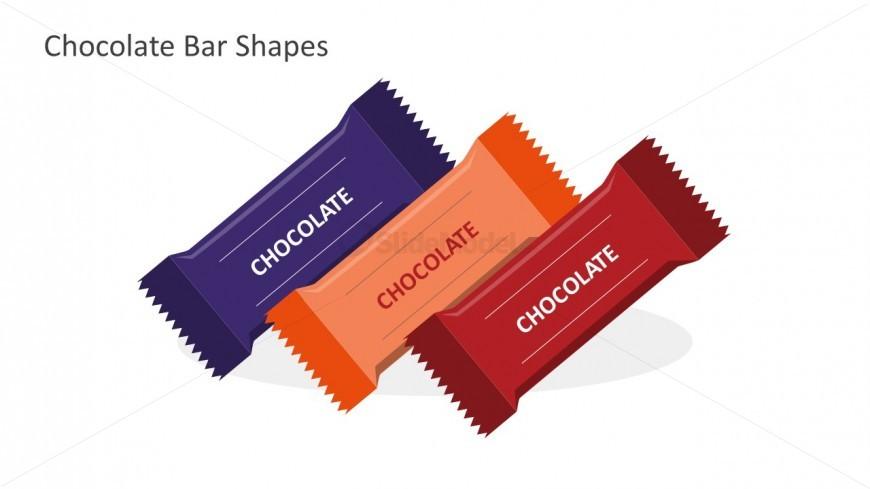 Editable Chocolate Bars For PowerPoint Presentation