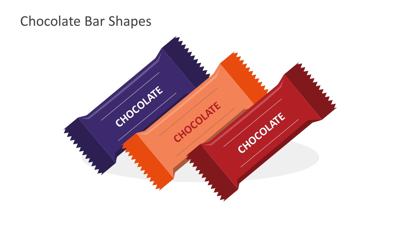 Editable Chocolate Bars For PowerPoint Presentation