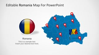 PPT Map of Romania