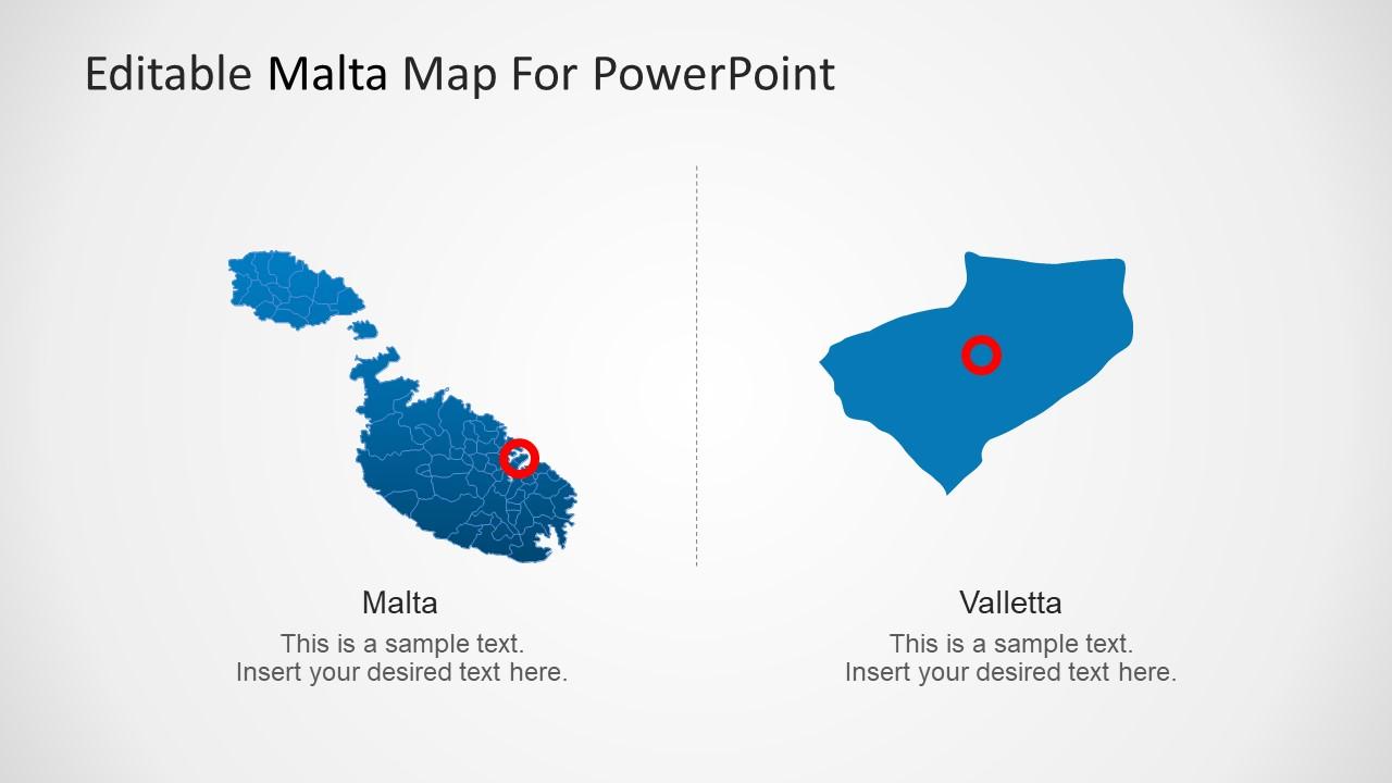 Enlarged Valletta Map Slide