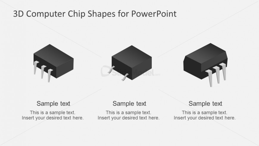 CPU Chip Shapes for Powerpoint