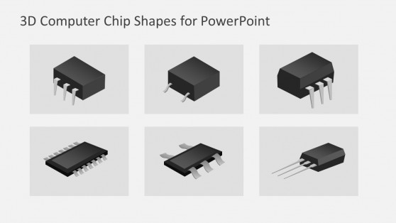 Computer Microchip Shapes for PowerPoint