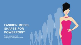 Fashion Model PowerPoint Shapes