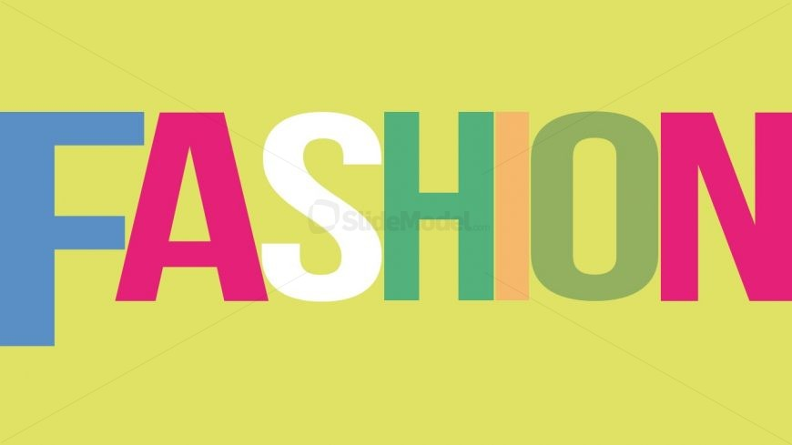 Bright Colors of Fashion Letters
