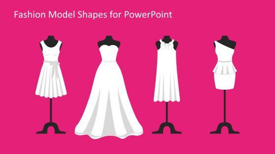 White Wedding Dress Model Figure