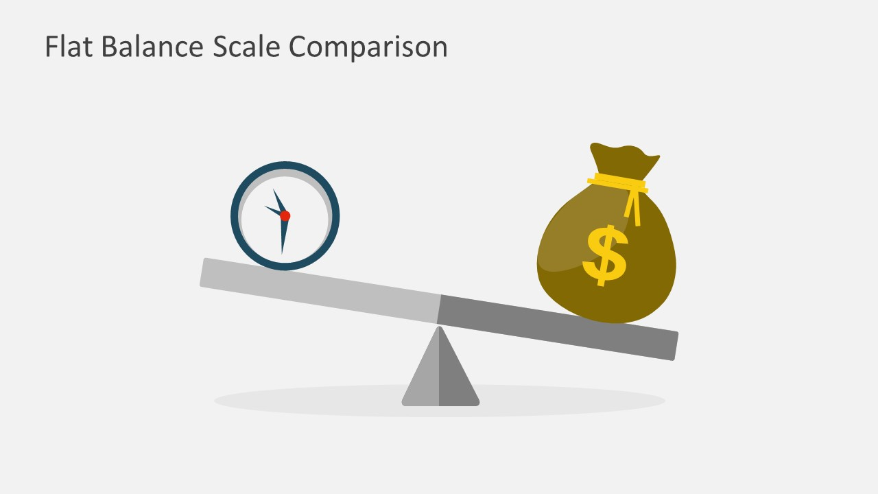 Use this Flat Balance Scale to show that time weighs more than wealth.