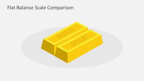 Gold Bar PowerPoint Illustration