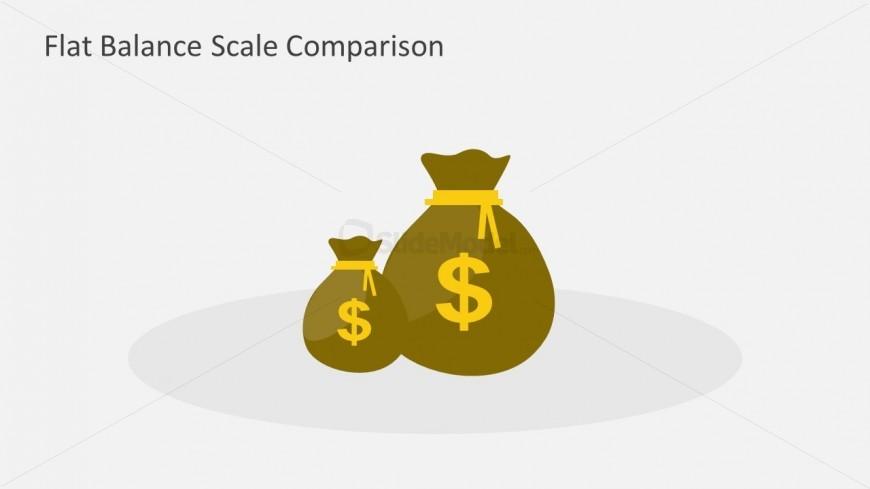 Money Bags Shapes for PowerPoint Slide Design