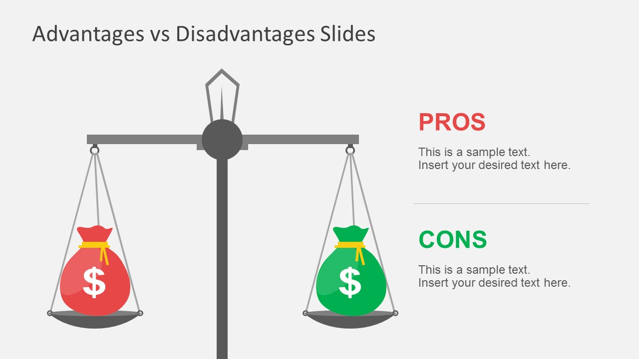 Advantages vs disadvantages powerpoint template for Powerpoint theme vs template