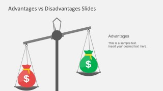 PowerPoint Templates Advantage Disadvantage Scale Balance