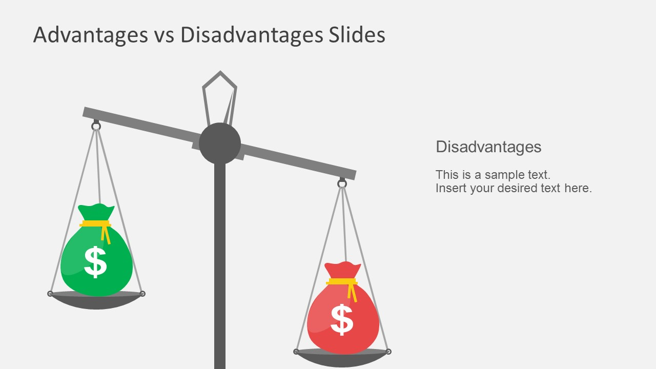 Advantages vs disadvantages powerpoint template nvjuhfo Choice Image