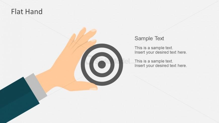 Flat Hand Gestures Design For PowerPoint
