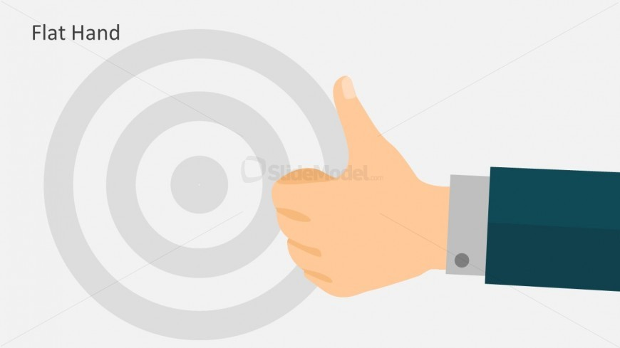 Flat Hand Design For PowerPoint Template