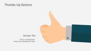 Downloadable Thumbs Up Hand Gesture PowerPoint Template