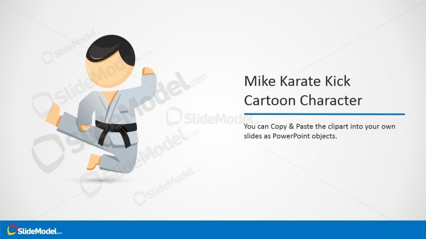 Mike Karate Kick PowerPoint Clipart