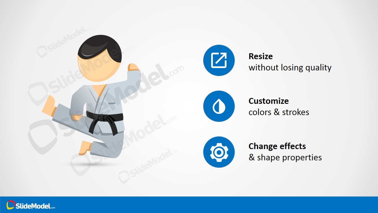Karate mike characters karate martial arts powerpoint template mike karate kick powerpoint clipart karate cartoon character for powerpoint toneelgroepblik