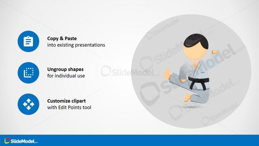 Karate Character PowerPoint Vector