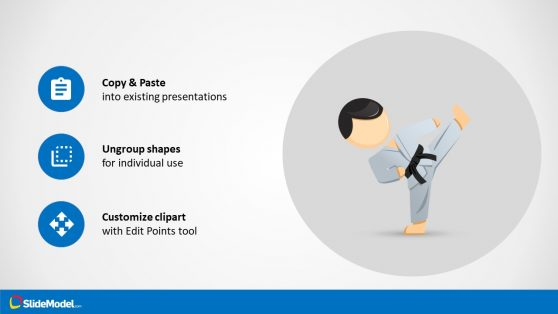 Karate powerpoint templates ppt bullet list layout mike cartoon toneelgroepblik