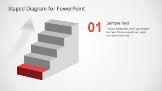 Flat Staged Diagram for PowerPoint
