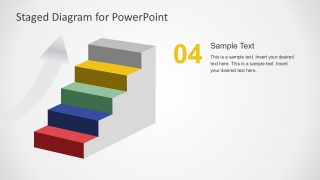 Arrow Step Stage Diagram PowerPoint