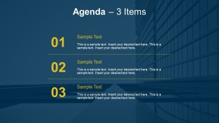3 Point Meeting Agenda PowerPoint Templates