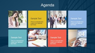 Summary Agenda Slides With Text Boxes For Powerpoint