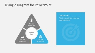 Round Point Triangle Design PowerPoint Diagrams