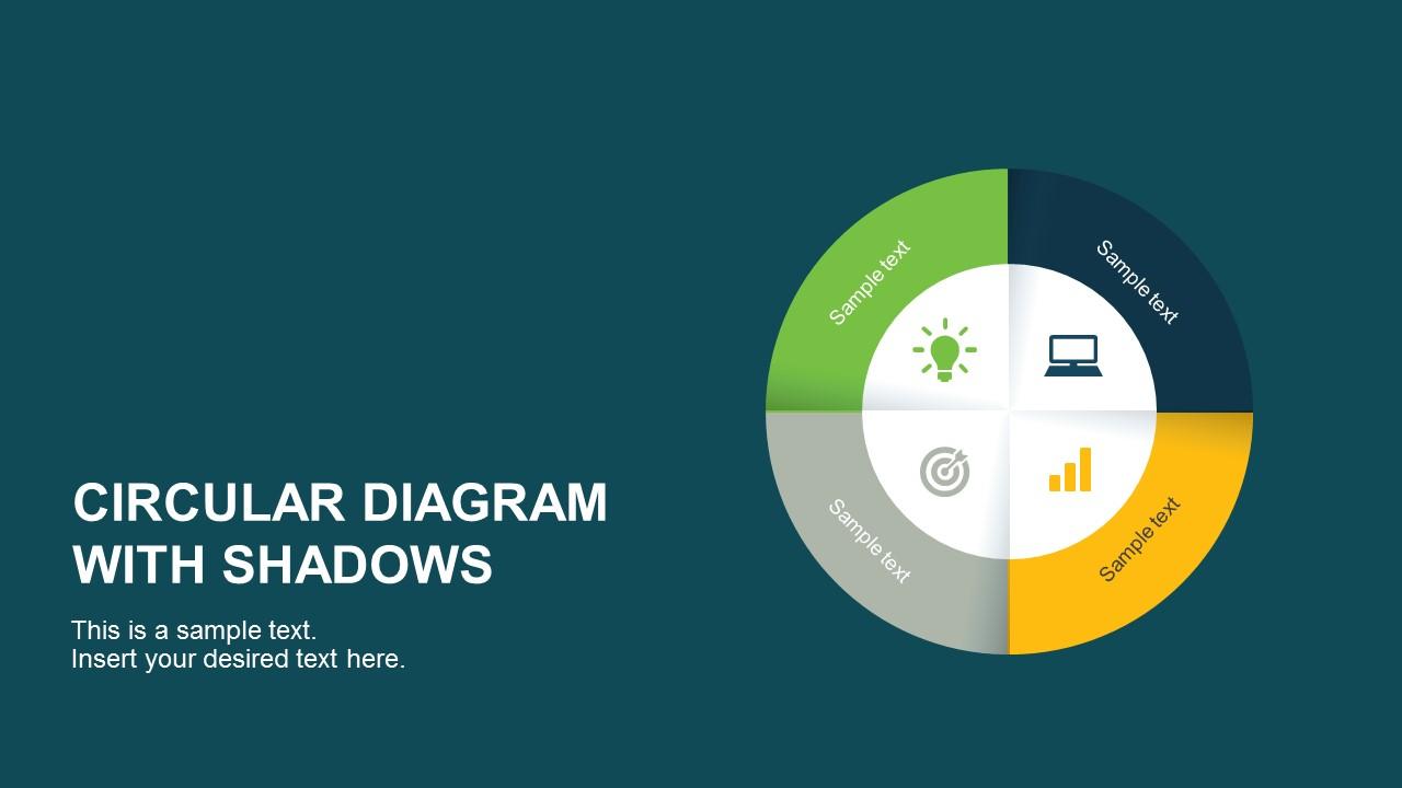 Shadow Circular Diagram PowerPoint Template Cover