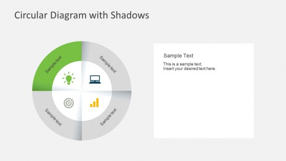 PowerPoint Process Templates With Shadow Effect