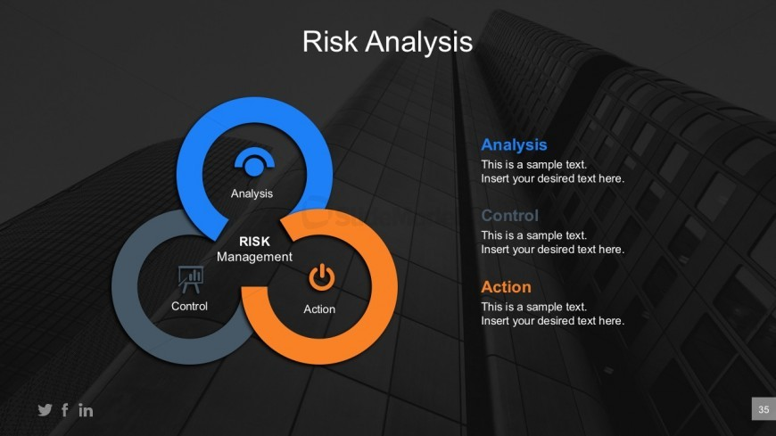 Segmented Circle Diagrams For Business Risk Analysis
