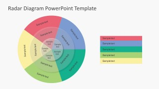 Text Based Radar Diagram For PowerPoint
