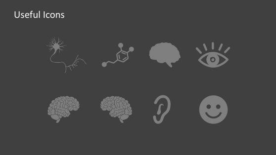 Editable Human Brain PowerPoint Icons