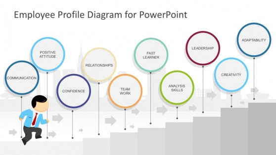 Employment Record Diagram PowerPoint Template