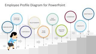 Editable Running Jane Character PowerPoint Vectors