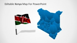 Kenya World Highlight PowerPoint Map