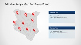 Kenya Map for PowerPoint with State Highlighted