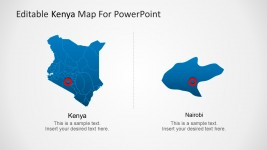 Kenya Map Geographic Location PowerPoint Templates