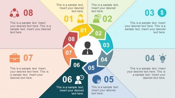 8 Steps Circular PowerPoint Diagrams
