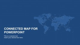 World Continental Map For PowerPoint Slides