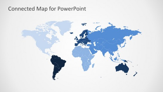 Customize Continents of the World Infographic Map For PowerPoint