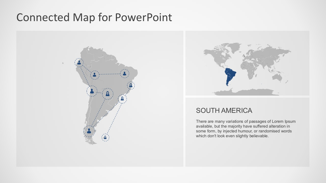 Land Continental Area For South America PowerPoint