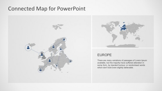 Europe Geographical Location Map PowerPoint Designs