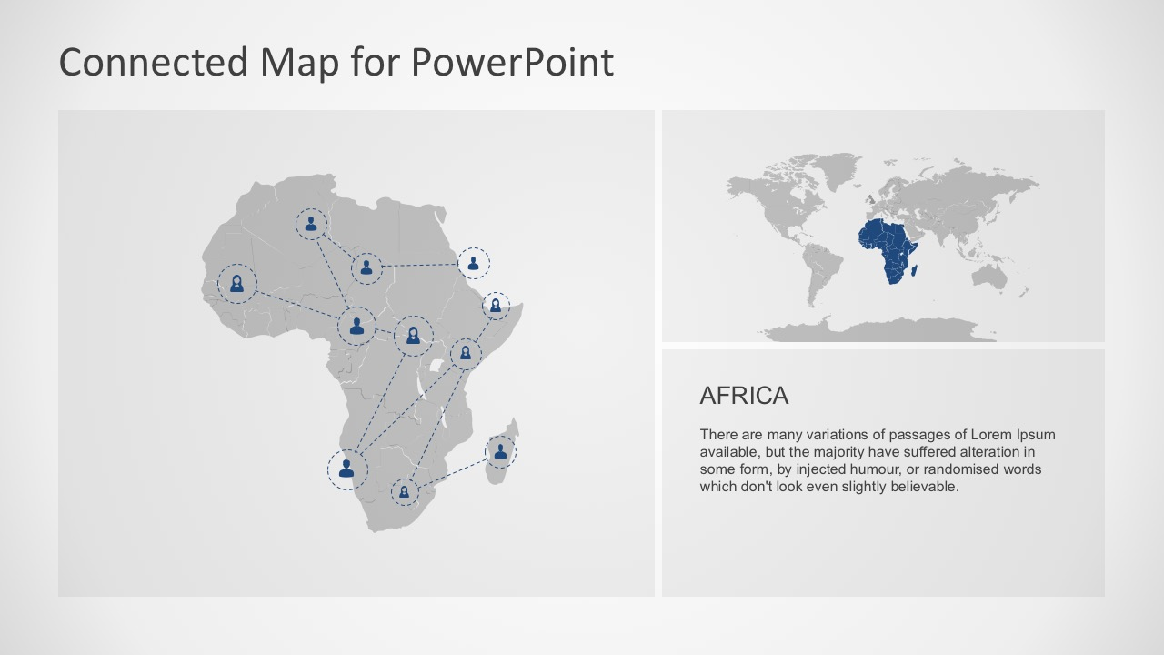 Connected map powerpoint template powerpoint world continent map for africa slide templates toneelgroepblik Image collections