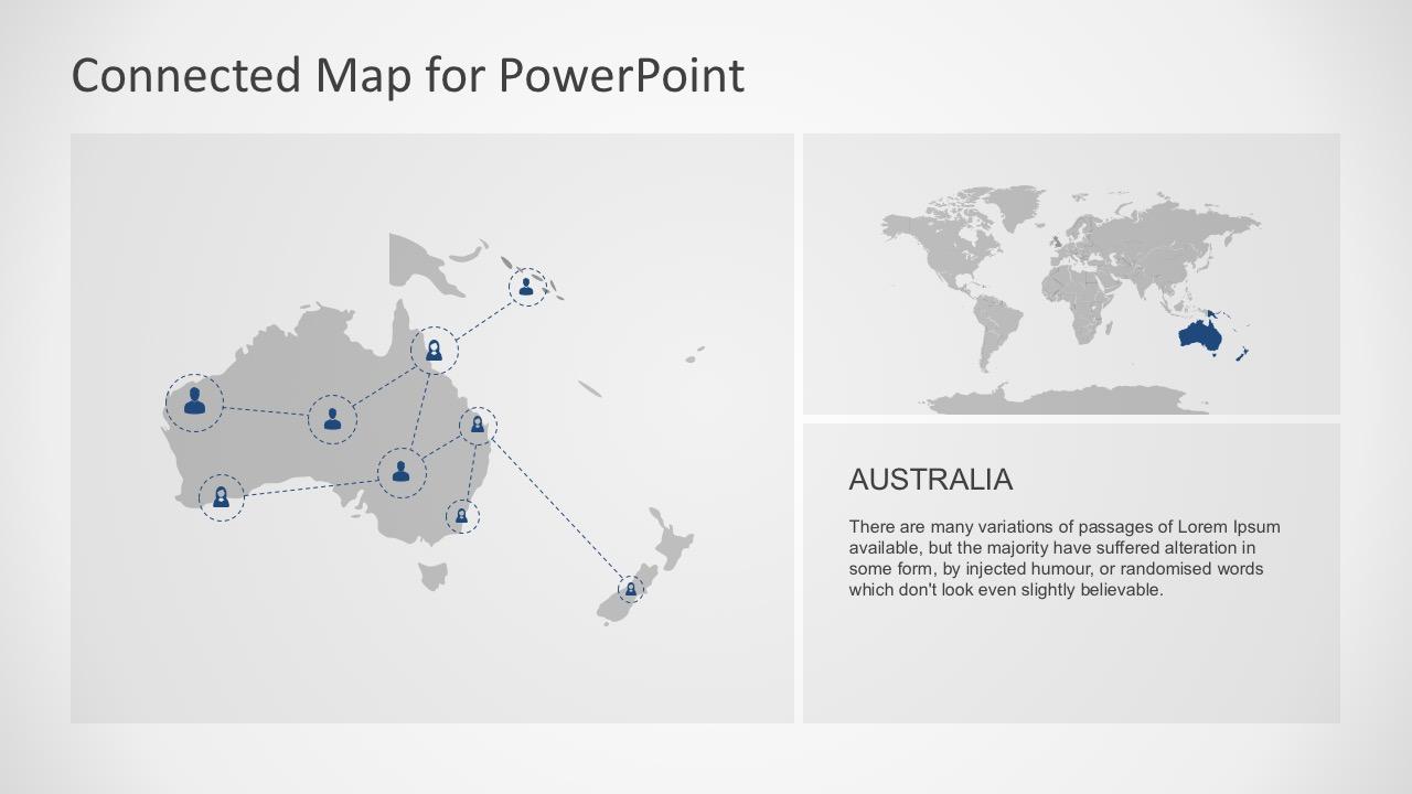 Editable Australian Map For PowerPoint Graphics