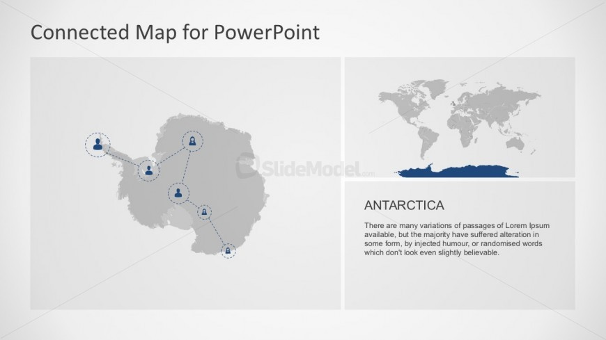 Southernmost Antarctic Continent Map Template